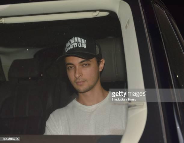 Aayush Sharma brotherinlaw of Bollywood actor Salman Khan spotted on May 29 2017 in Mumbai India