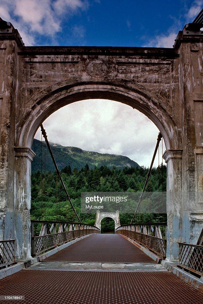 Abandoned Alexandra Bridge across the Fraser River in British Columbia