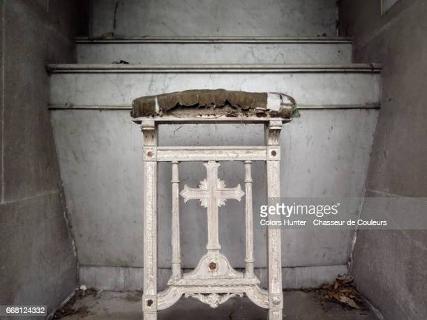 Abandoned Altar and Chair