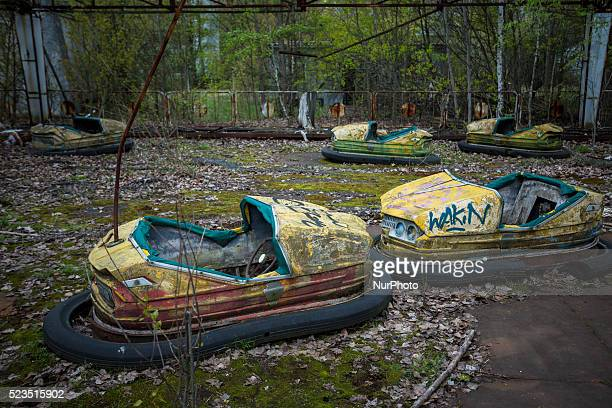 Abandoned amusement park in the abandoned city of Pripyat near Chernobyl Ukraine April 22 2016 April 26 2016 marks 30 years since the day of the...