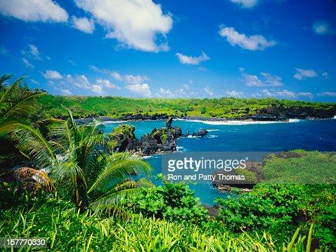 Abandoned Ariel view of Maui Coastline located in Hawaii