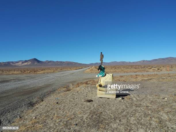 Abandoned Armchair At A Crossroads In Black Rock Desert, Nevada