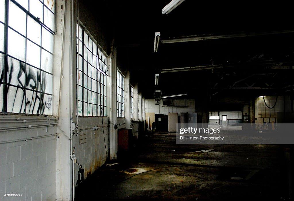 Abandoned automobile garage
