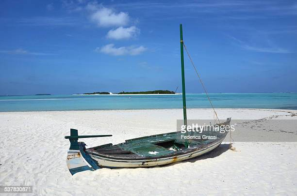 Abandoned Boat on the Beach, Maldives