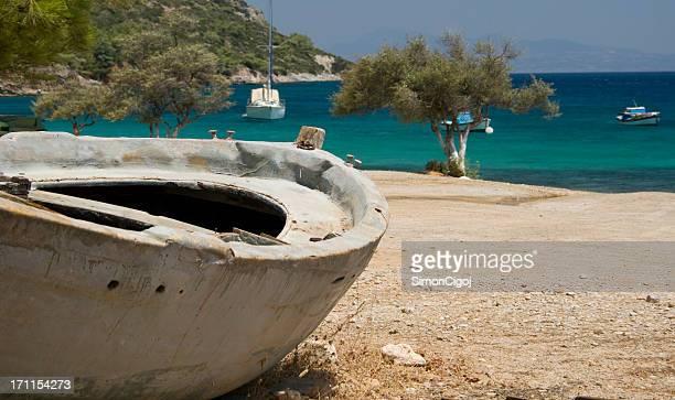 Abandoned boat, Samos, Greece