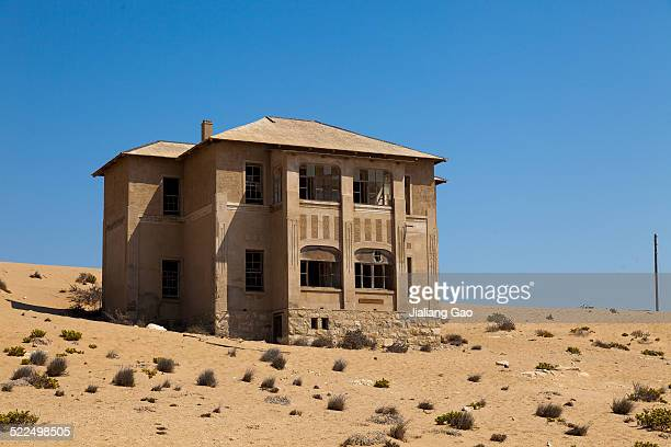 Abandoned building in the once rich mining town of Kolmanskop Namibia