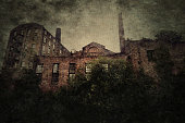A photo of an old abandoned industrial building in Manchester