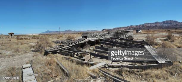 Abandoned Buildings In Sulphur Ghost Town, Nevada