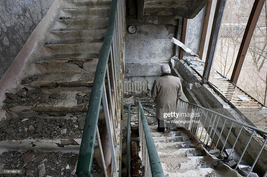 Abandoned buildings in the town of Pripyat, Ukraine, are shown on Thursday, March 24, 2011. The town, founded in 1970 for workers at the Chernobyl Nuclear Power Plant and evacuated following the 1986 explosion has become a tourist destination with tours of the mostly abandoned area.