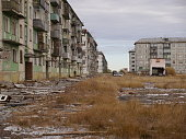abandoned and broken civil buildings in northern part of russia