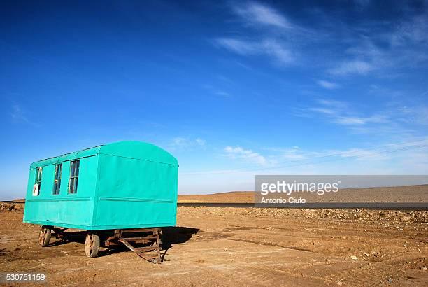 Abandoned caravan in Kyzyl Kum desert