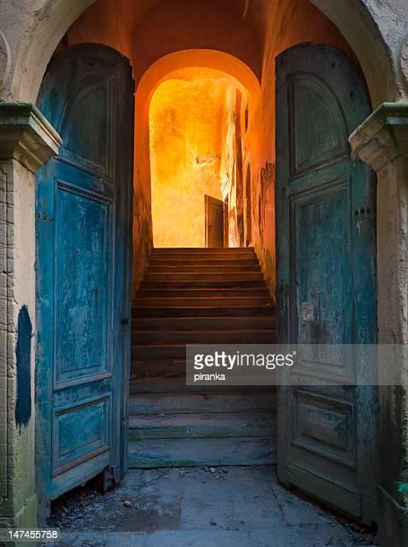 Abandoned castle entrance