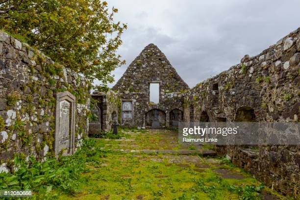 Abandoned church on cemetery, Isle of Skye, Scotland, United Kingdom