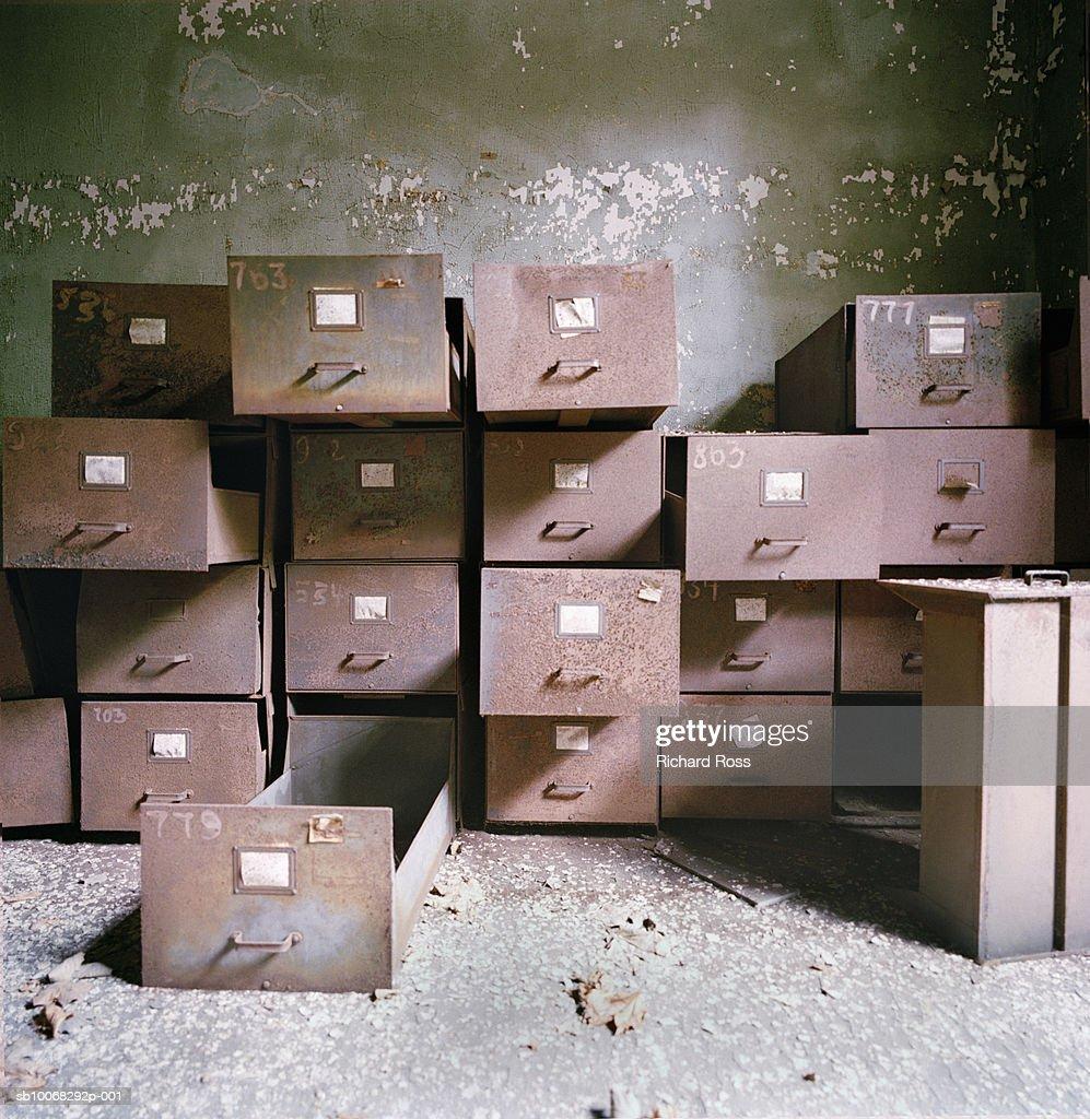 Abandoned drawers : Stock Photo