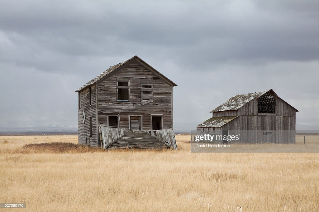 Abandoned farm, Montana, USA : Stock Photo