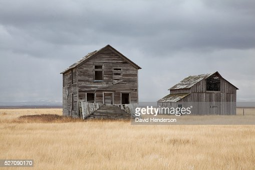 Abandoned farm, Montana, USA : Stock Photo
