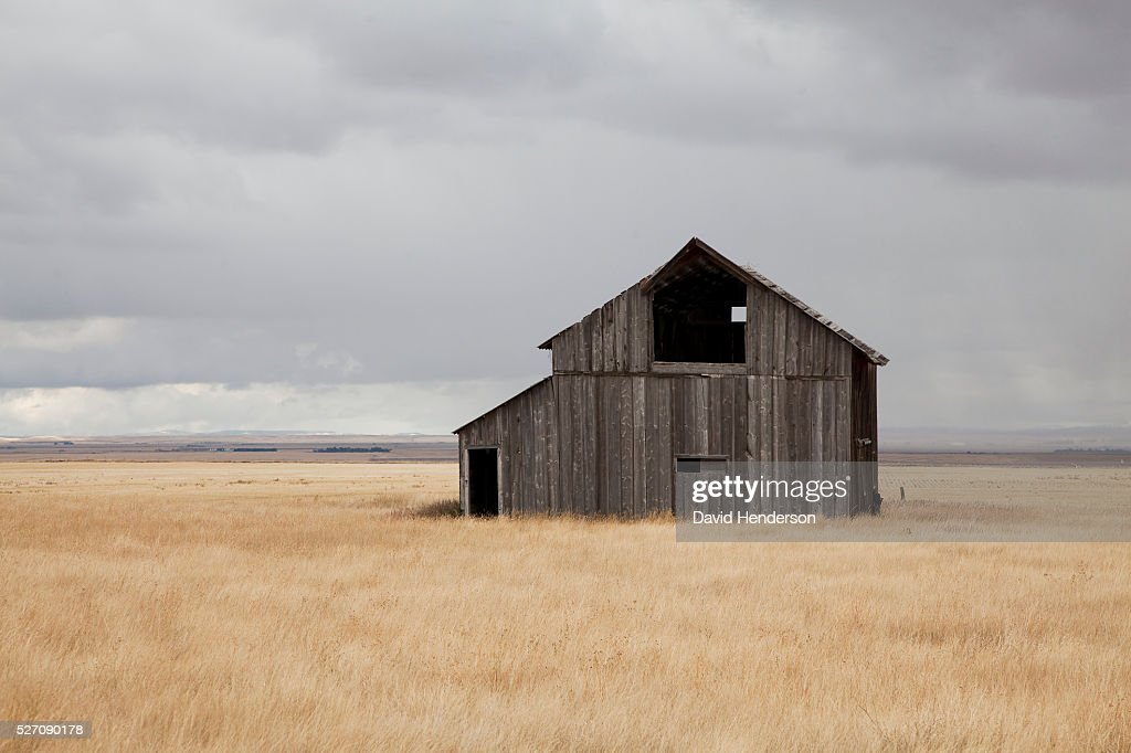 Abandoned farm, Montana, USA : Foto de stock