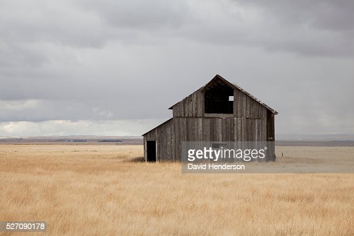 Abandoned farm, Montana, USA : Stockfoto