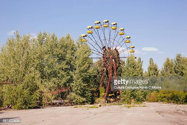 Abandoned ferris wheel in the Chernobyl Exclusion Zone, Pripyat, Ukraine