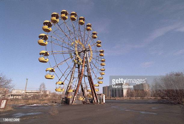 Abandoned Ferris Wheel in the Pripyat Central Park evacuated town two kilometres from the Chernobyl power station November 1995