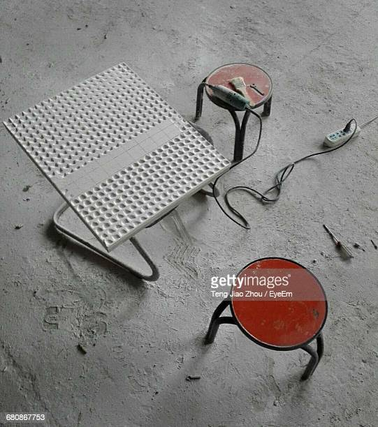 Abandoned Group Of Objects