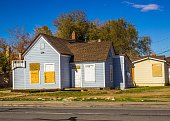 Abandoned Homes With Boarded Up Windows