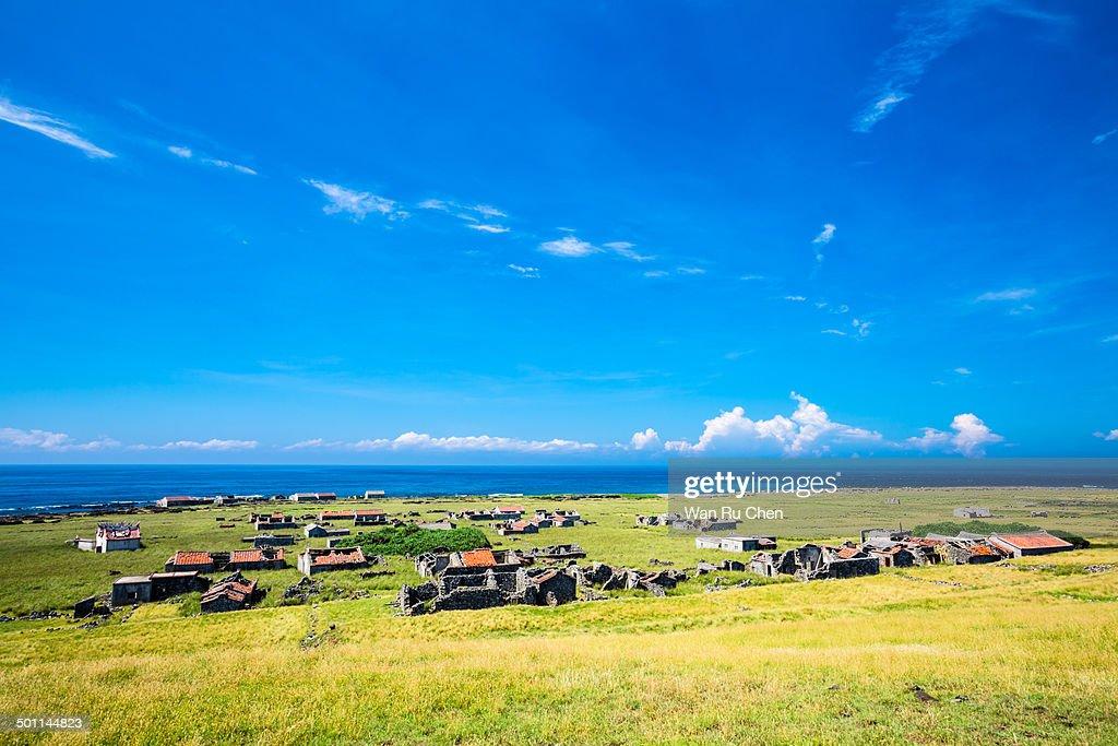 Abandoned homes on the desolate Siji Island