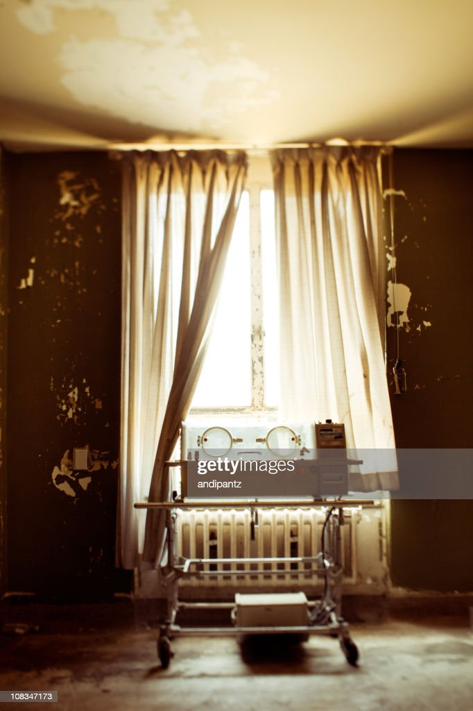 Abandoned hospital incubator : Stock Photo