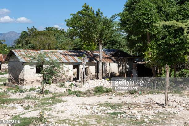 PortauPrince Haiti December 09 2012 A abandoned house in a destroyed village damaged from the devastating earthquake in 2010 near PortauPrince Also...
