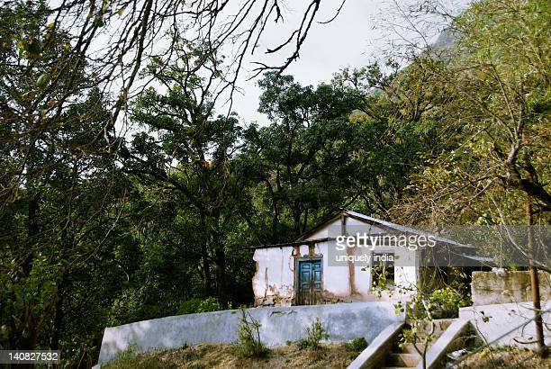 Abandoned house in a forest, Vaishno Devi, Katra, Jammu And Kashmir, India
