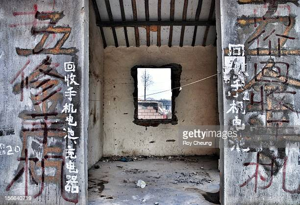 Abandoned house to be demolished in China