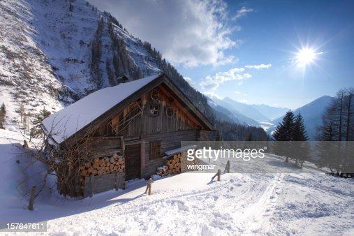 abandoned hut in tirol austria