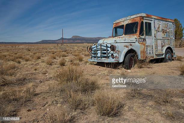 Abandoned ice cream truck