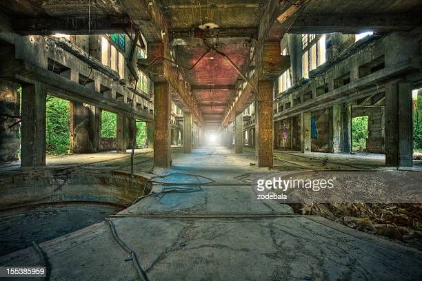 Abandoned Industrial Factory, Urban Decline