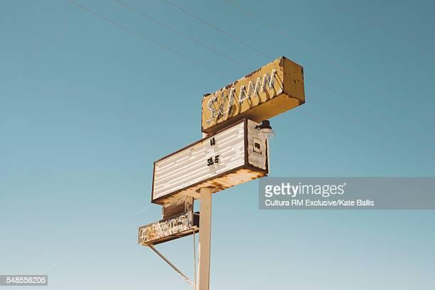 Abandoned neon cocktail sign, Salton Sea, California, USA