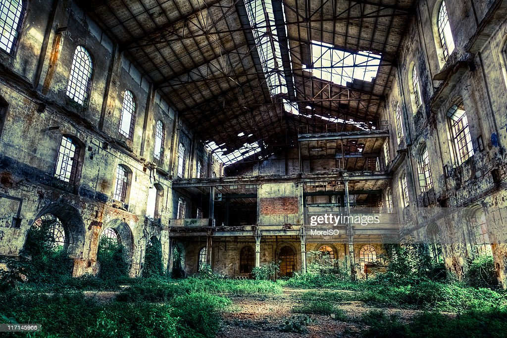 Abandoned Old Ruined Factory Urban Exploration