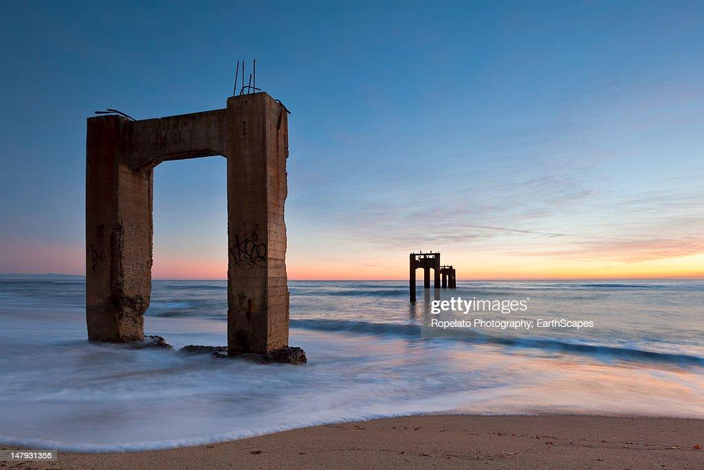 Abandoned pier : Stock Photo