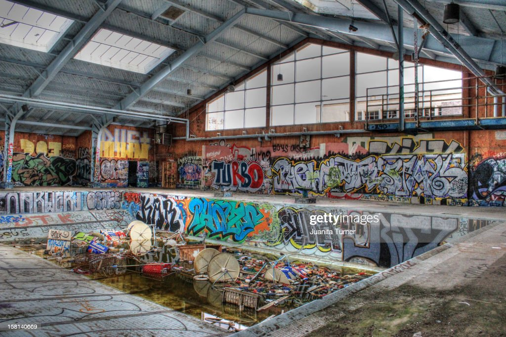 Abandoned pool on the former Fort Order Military base, in Marina, California.