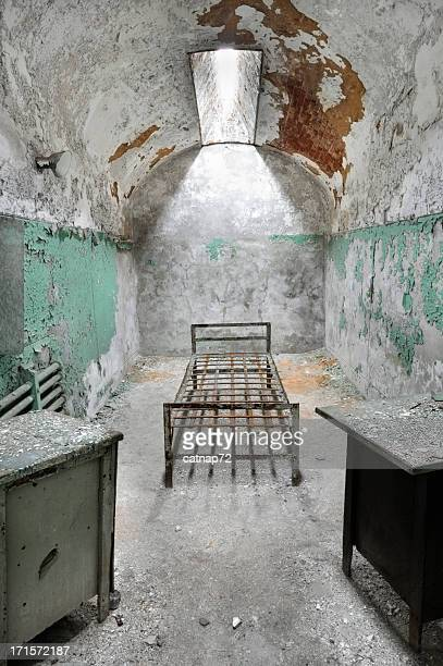Abandoned Prison Cell with Furniture, Eastern Penitentiary
