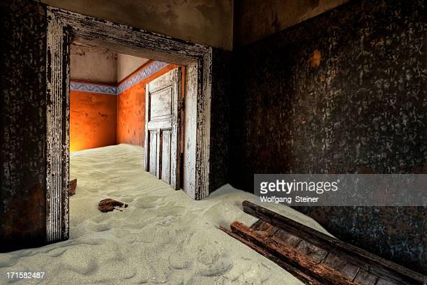 Abandoned room at Kolmanskop