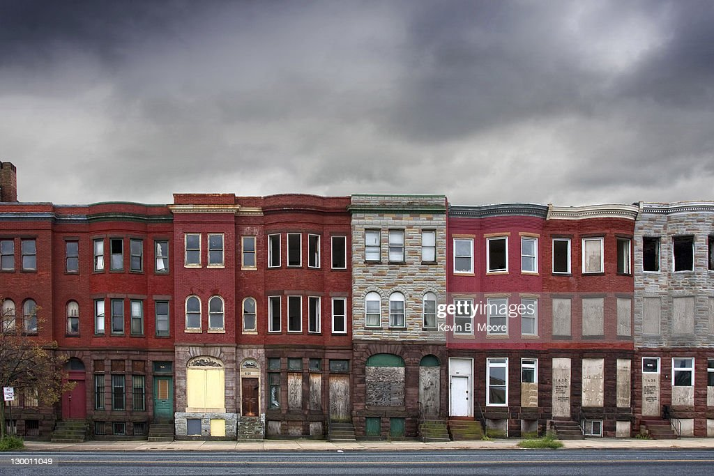 Row Houses In Baltimore Md : Abandoned rowhouses in baltimore city stock photo getty