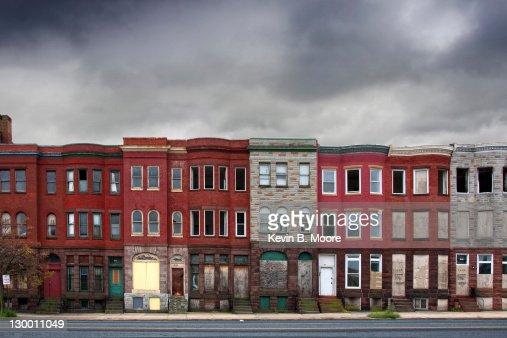 Abandoned Rowhouses in Baltimore City