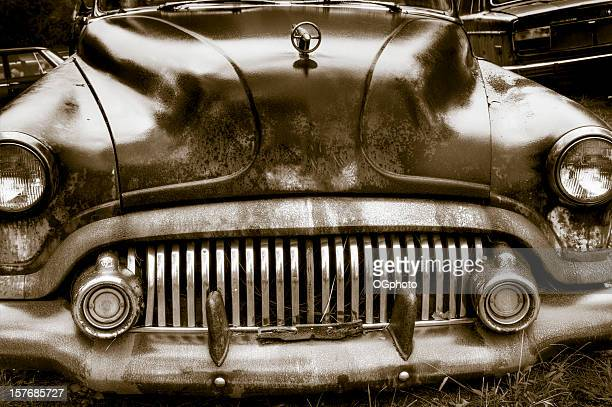 Abandoned rusted car