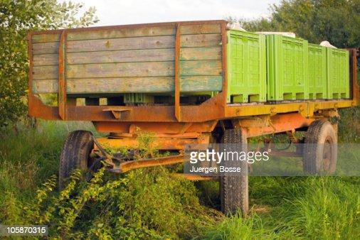 Abandoned rusty trailer : Stock Photo