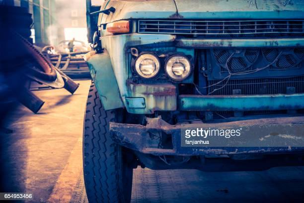 Abandoned rusty truck
