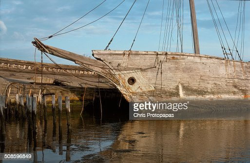 Abandoned sailing ships at Wiscasset Maine : Foto de stock