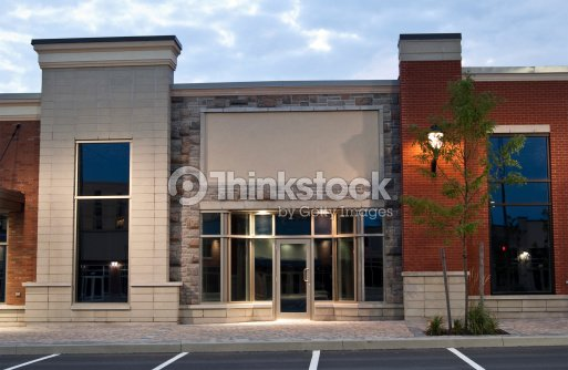 Abandoned Store Fronts In A New Strip Mall Development