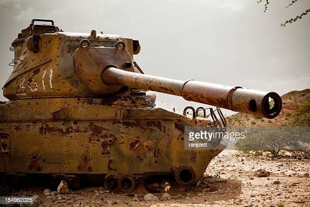 Abandoned Tank in Africa (Somalia)