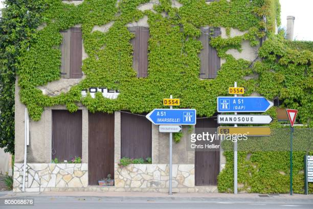 Abandoned Vacant Hotel at Vinon-sur-Verdon Provence