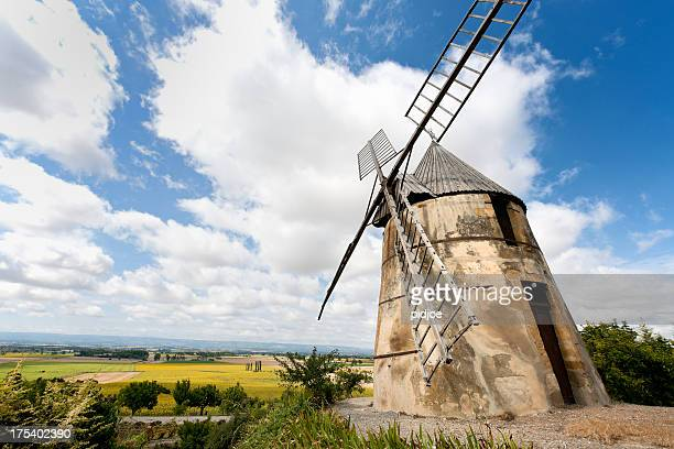 abandoned windmill near Villasavary, France